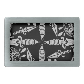 Daggers and eyes tattoo graphic pattern belt buckles