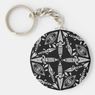 Daggers and eyes tattoo graphic pattern keychain