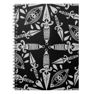 Daggers and eyes tattoo graphic pattern notebooks