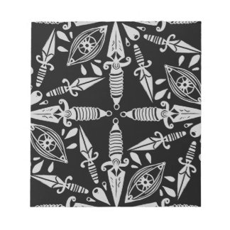 Daggers and eyes tattoo graphic pattern notepad
