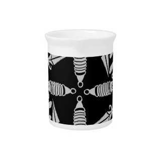 Daggers and eyes tattoo graphic pattern pitchers