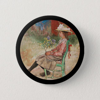 Dagmar in the Garden 2 Inch Round Button