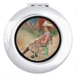 Dagmar in the Garden Compact Mirrors