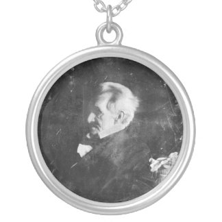 Daguerreotype of Andrew Jackson by Edward Anthony Silver Plated Necklace