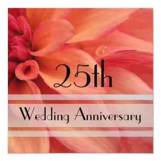 Dahlia 25th Anniversary Invitation