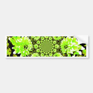Dahlia abstrait de vert de chaux autocollant de voiture