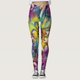 Dahlia Aquarelle Leggings