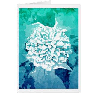Dahlia Blank Card