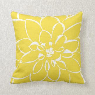 Dahlia Buttercup | Yellow Flower Throw Pillow