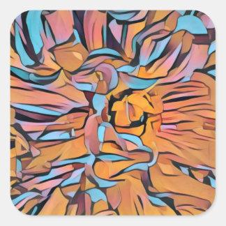 Dahlia coloré sticker carré