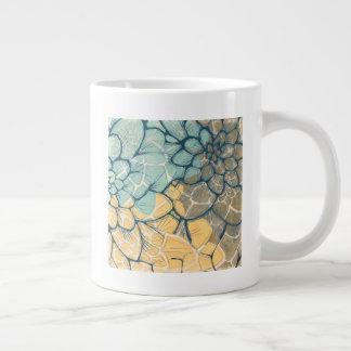 Dahlia Dance I Large Coffee Mug