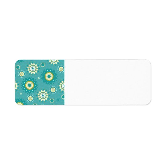Dahlia Floral Patterned Blue and Cream