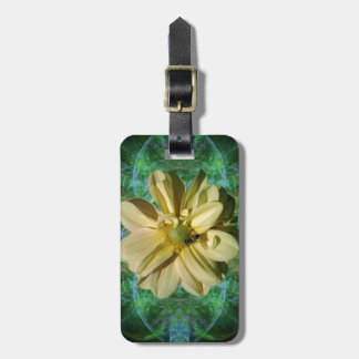 Dahlia flower and meaning luggage tag