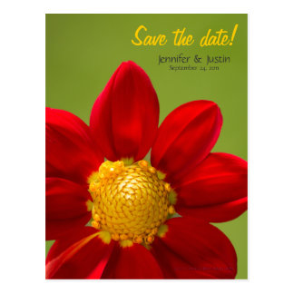 Dahlia Flower Card - Save the Date Announcement