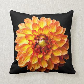 Dahlia flower cushion. throw pillow