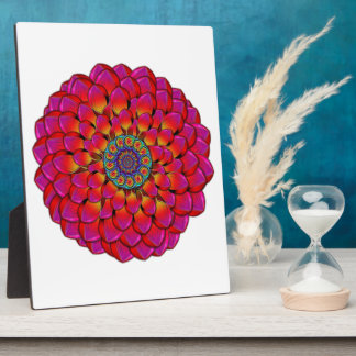 Dahlia Flower Endless Eye Abstract Plaque