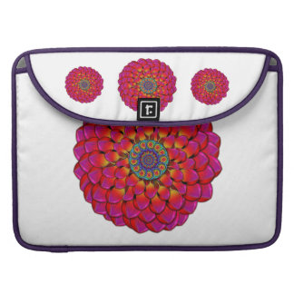 Dahlia Flower Endless Eye Abstract Sleeve For MacBooks