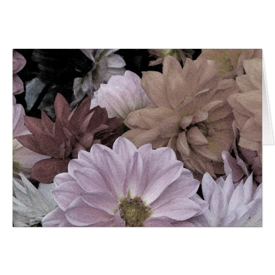 Dahlia Flower Garden Floral Abstract Blank Card