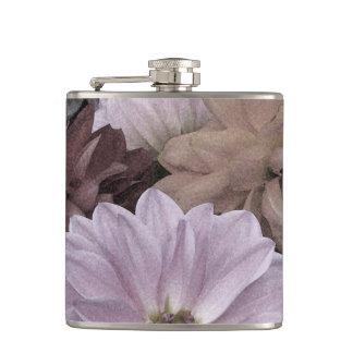 Dahlia Flower Garden Floral Abstract Flask
