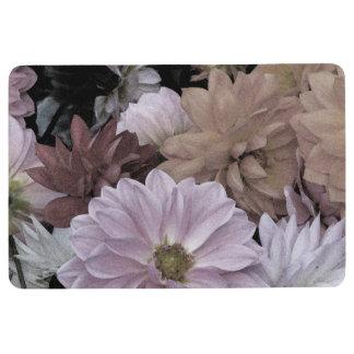 Dahlia Flower Garden Floral Abstract Floor Mat