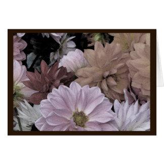 Dahlia Flower Garden Floral Thank You Card