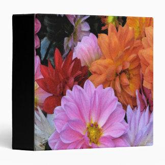 Dahlia Flowers Binders
