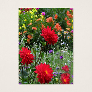 Dahlia Garden ATC Business Card