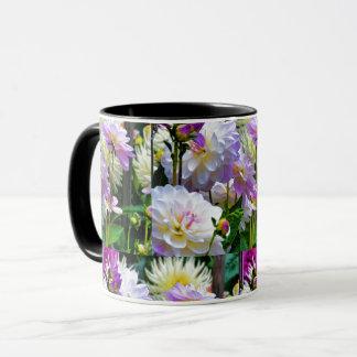 Dahlia Garden Pattern Floral Mug
