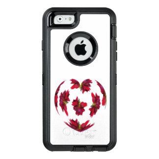 Dahlia Heart OtterBox Defender iPhone Case
