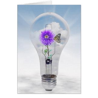 Dahlia in Light Bulb Card