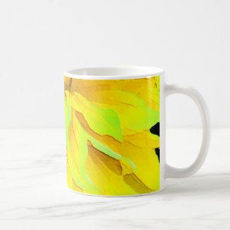 Dahlia jaune mug blanc