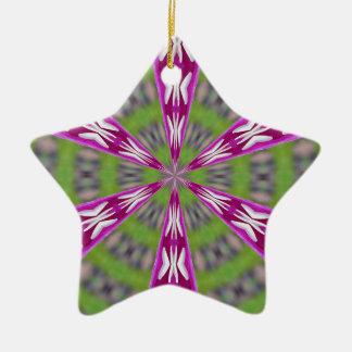 Dahlia Kaliediscope Ceramic Ornament