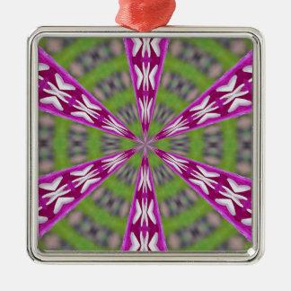 Dahlia Kaliediscope Metal Ornament