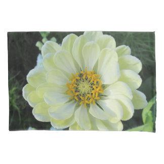Dahlia Light Yellow Flower Pillowcase