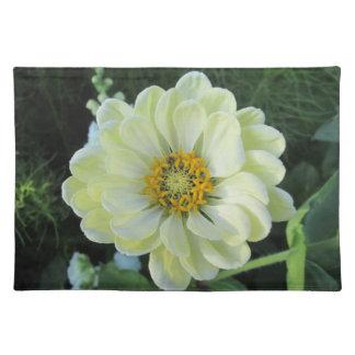 Dahlia Light Yellow Flower Placemat