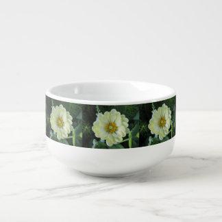 Dahlia Light Yellow Flower Soup Mug