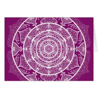 Dahlia Mandala Card
