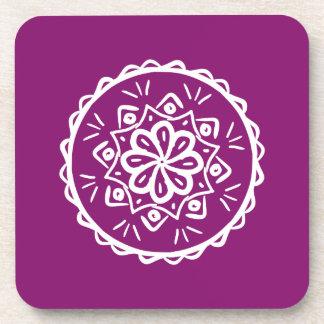 Dahlia Mandala Coaster