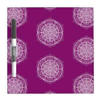 Dahlia Mandala Dry Erase Board