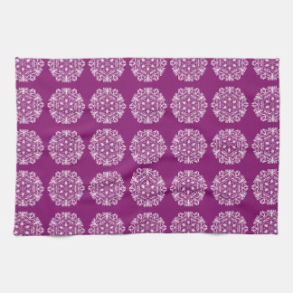 Dahlia Mandala Kitchen Towel