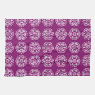 Dahlia Mandala Kitchen Towel