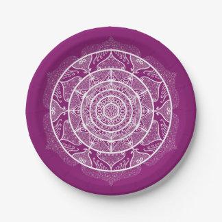 Dahlia Mandala Paper Plate