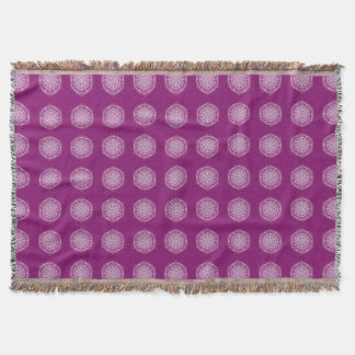 Dahlia Mandala Throw Blanket