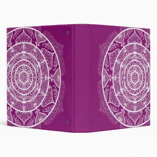 Dahlia Mandala Vinyl Binders