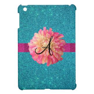 Dahlia monogram iPad mini cover