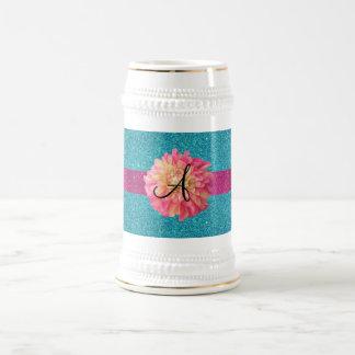 Dahlia monogram mug