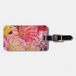 Dahlia Petals Bag Tag