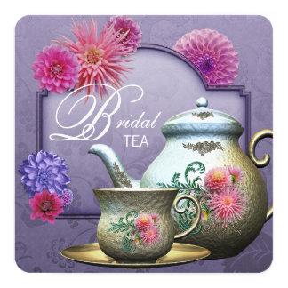 Dahlia Pink Purple Bridal Tea Shower Card