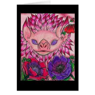 Dahlia Poppy Bat Card