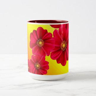 Dahlia Red Flower Mug